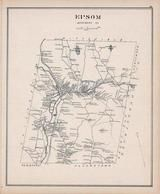 Epson, New Hampshire State Atlas 1892 Uncolored
